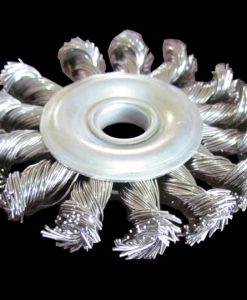 Twist Wire Knot Wheel, Carbon or Stainless (for Bench Grinder)