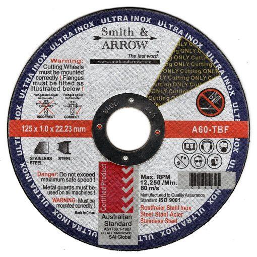 "5"" 125mm x 1mm Metal Cutting Discs Wheels for steel   Smith & ARROW"