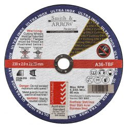 "9"" 230mm Metal Cutting Discs Wheels for all Steel 