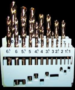19 Piece Metric Drill Bit Set M2 HSS