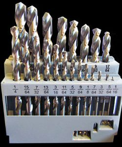 21 Piece Imperial Drill Bit Set M2 HSS Metal