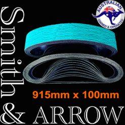 915mm x 100mm Linishing Sanding Abrasive Belts   Smith & ARROW