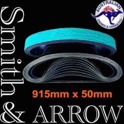 915mm x 50mm Linishing Sanding Abrasive Belts   Smith & ARROW