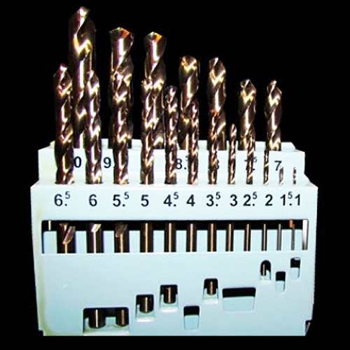 19 Piece Metric Cobalt Drill Bit Set - M35 HSS (For Metal)