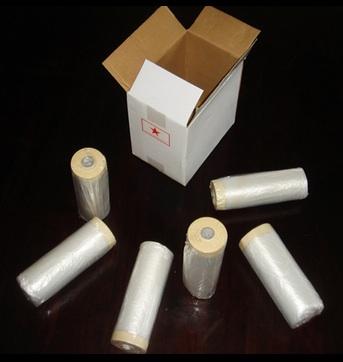 Plastic Drop Film 1700mm / 2700mm - Pre-Taped Painting Film