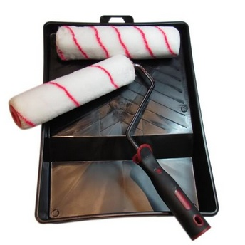 Paint Roller Tray Set incl Roller Frame, Roller Sleeves