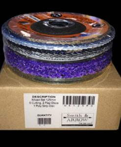 "125mm, 5"" Mixed Pack - 8 Discs *Cutting, Flap, Strip*"