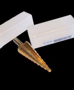 M2 Metal Step Drill Bit Set: 4mm-32mm, 15 Steps