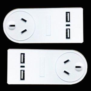 2 x Surge Protection Adaptors. Plus 2 x USB Ports