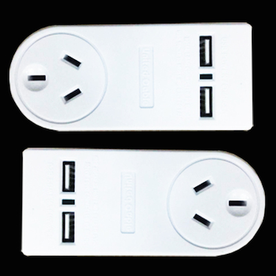 2 x Surge Protection Adaptors. Plus 2 x USB Ports | Smith & ARROW