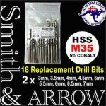 METRIC M35 COBALT HSS Replacement Drill Bit Set   18 PIECE