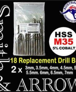 METRIC M35 COBALT HSS Replacement Drill Bit Set | 18 PIECE