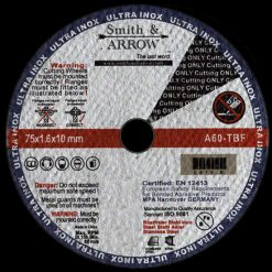 "3"" 75mm x 1.6mm Metal Cutting Discs Wheels for Steel 