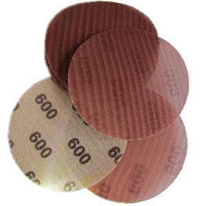 "125mm 5"" Ceramic Net Hook & Loop Auto Orbital Sanding Discs - Anti-Clog Dust Free"