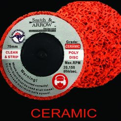 "3"" 75mm Roloc ceramic poly strip disc"