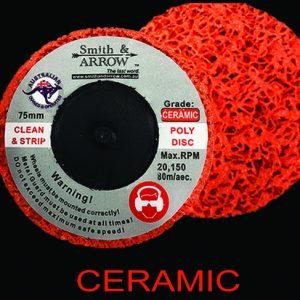 "3"" 75mm Roloc ceramic poly strip disc"