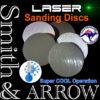 """3"""" 75mm Velcro Hook Loop Trizact Laser Cut Disc"""